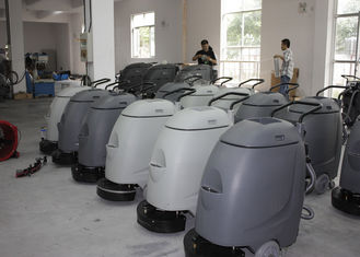 Electronic Walk Behind Automatic Scrubber Floor Machine With 17 Inch Single Brush