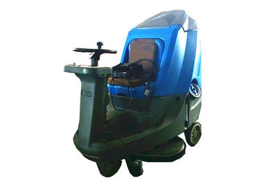 High Tech Ride On Floor Scrubber Dryer Wet Floor Cleaner Machine With Four Battery